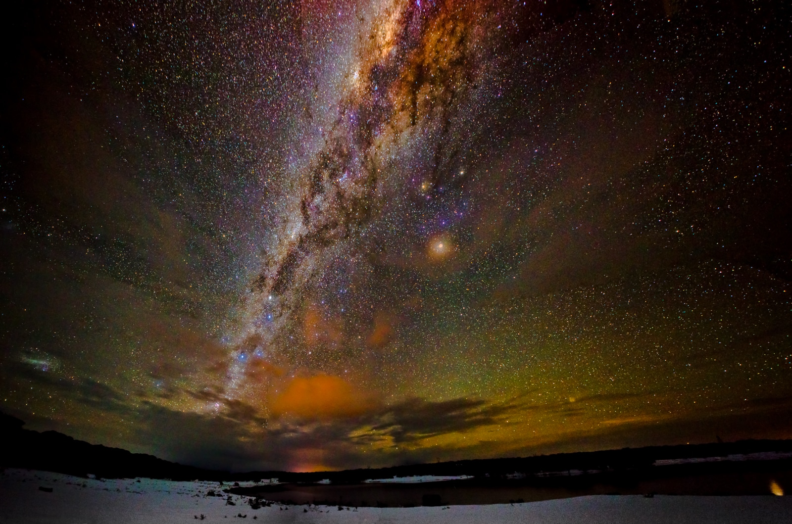 Milky Way - Snowy Mountains