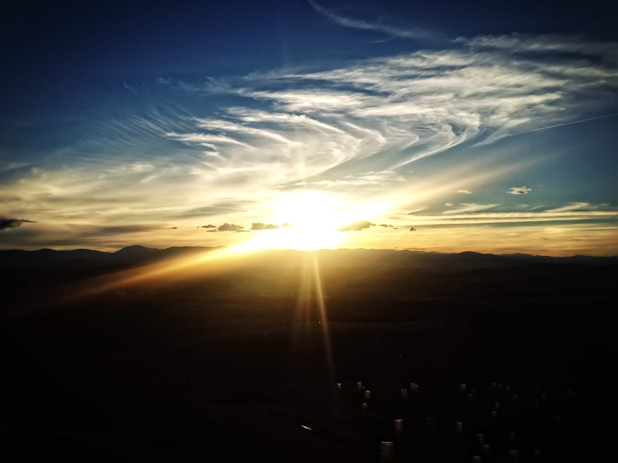 Sunset Over Canberra - Off iPhone